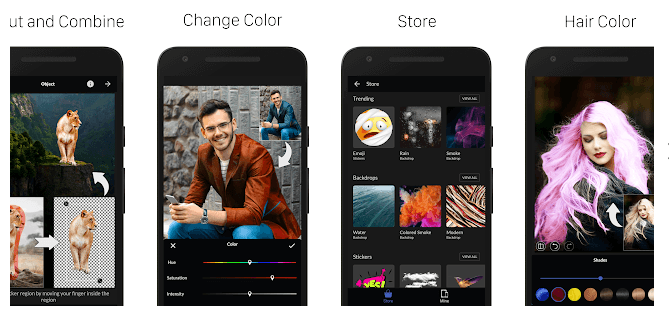 LightX photo editor screen